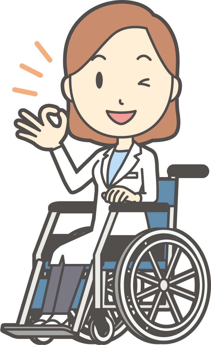 車椅子の女性のイラスト
